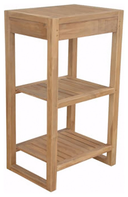 Anderson Teak Patio Lawn Garden Furniture Spa 2 Shelves Table  Contemporary Display And