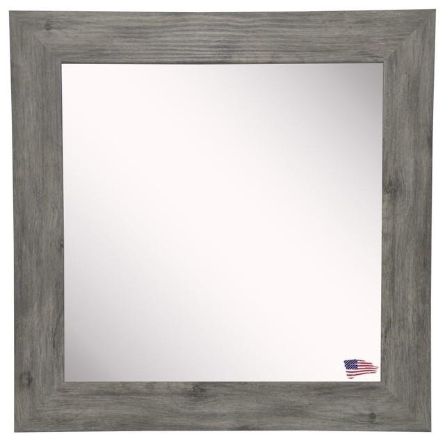"""American Made Rayne Gray Barnwood, 21.5""""x21.5""""."""
