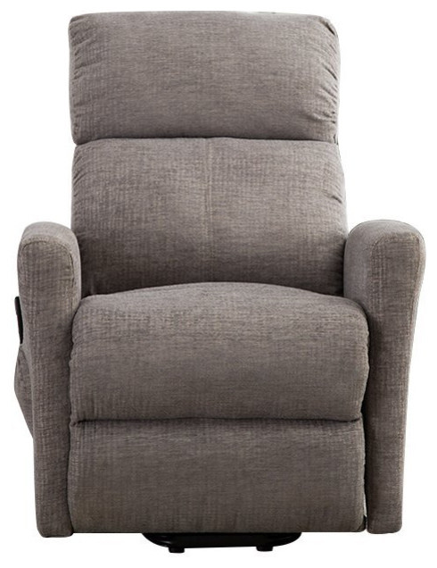 BONZY Lift Recliner Chair Power Lift Chair With Gentle Motor Velvet Cover, Buff by BONZY