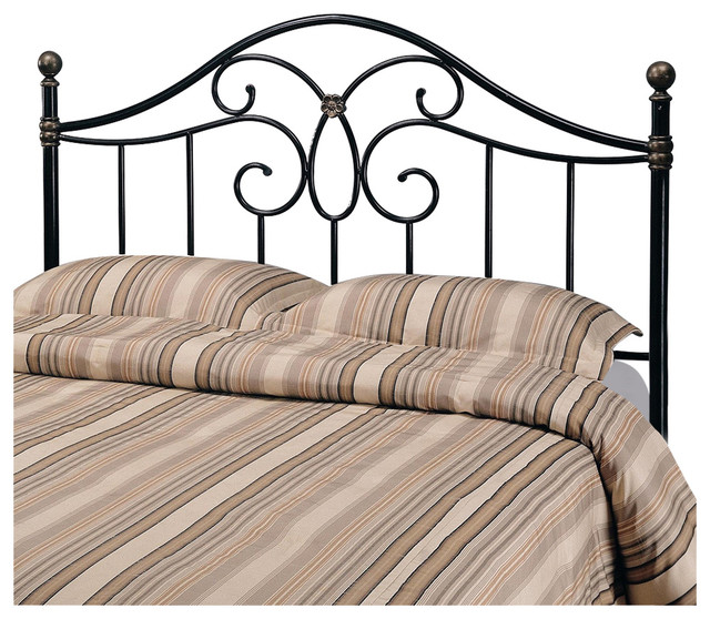 Coaster Full Queen Black Metal Headboard Traditional