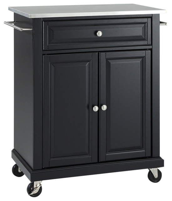 Stainless Steel Top Portable Kitchen Cart/Island