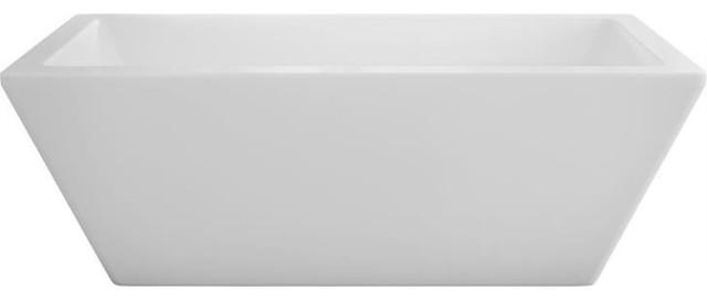 "60""x32"" Ametys Freestanding Rectangular Bathtub, Soaker."