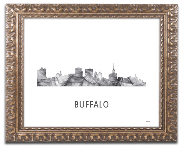 59c39782df8  Buffalo New York Skyline  Ornate Framed Art - Contemporary - Prints And  Posters - by Trademark Global