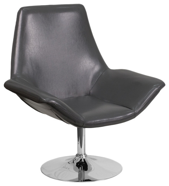 Enjoyable Offex Ofx 407363 Ff Gray Leather Reception Chair Caraccident5 Cool Chair Designs And Ideas Caraccident5Info
