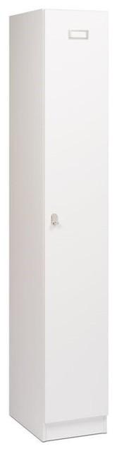 Hawthorne Collections 1-Tier Locker, White.