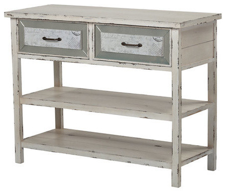 Bon Console Table With Drawers And Shelf