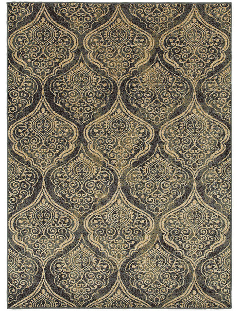 Oriental Weavers Sphinx Stratton 4960c Damask Rug Blue Ivory 9 10