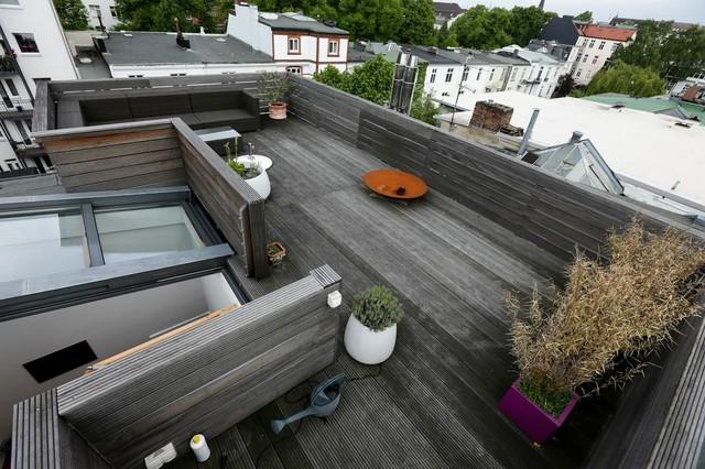 dachterrassen gestaltung 30qm vorher modern terrasse hamburg von die balkongestalter. Black Bedroom Furniture Sets. Home Design Ideas