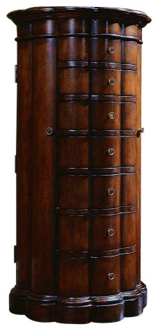 Seven Seas Shaped Jewelry Chest Traditional Jewelry Armoires