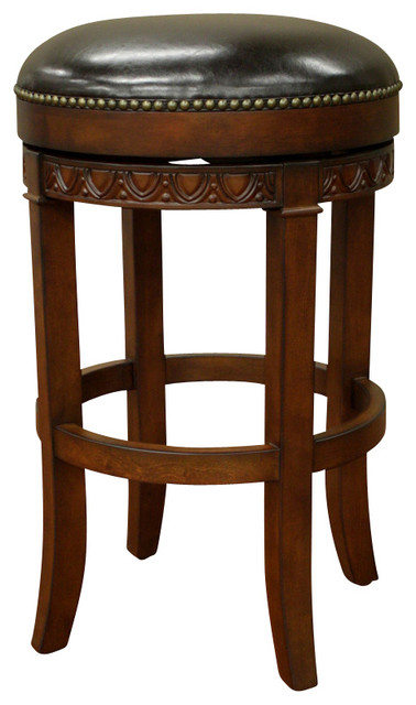 American Heritage Portofino Stool In Suede With Merlot