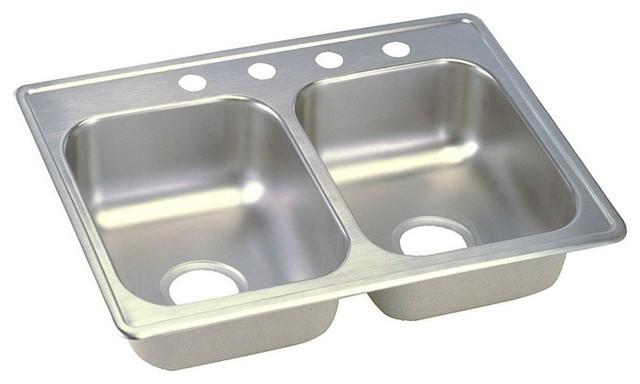 "Elkay Dayton Stainless Steel 25""x19""x6-5/16"" Top Mount Sink D225194"