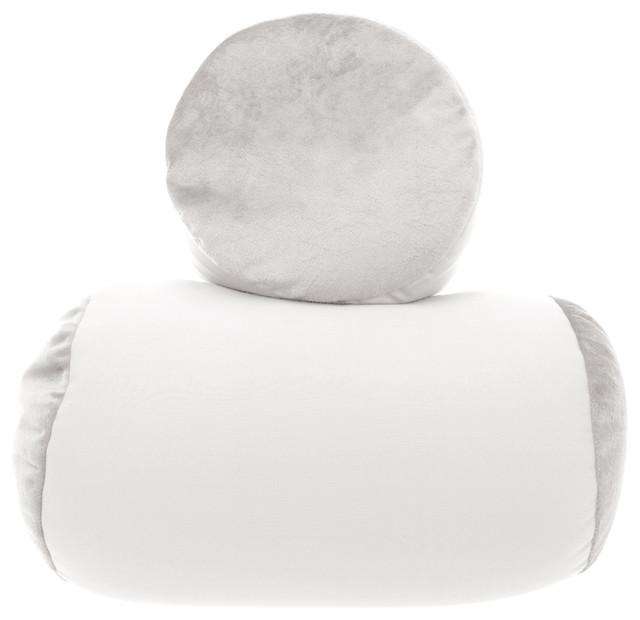 Pleasing Mini Microbead Pillow Neck Roll Bolster Pillows White Creativecarmelina Interior Chair Design Creativecarmelinacom