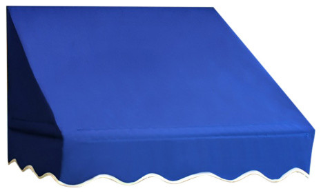 Aleko Window Awning Door Canopy, Blue, 4&x27;x2&x27;. -1