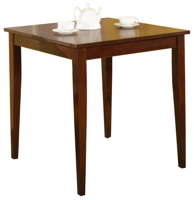 30 square cherry finish solid wood dining room kitchen leg table table tops and bases by - Kitchen table bases ...