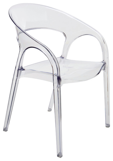 kessler round back acrylic modern clear dining chair