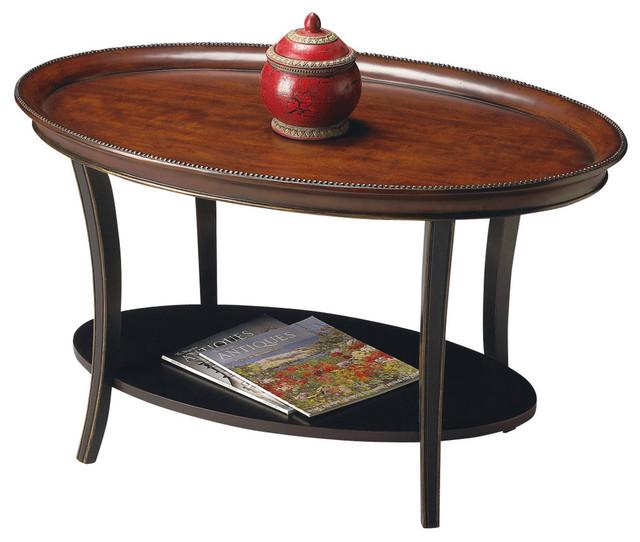 butler hamlet cafe noir oval cocktail table traditional. Black Bedroom Furniture Sets. Home Design Ideas
