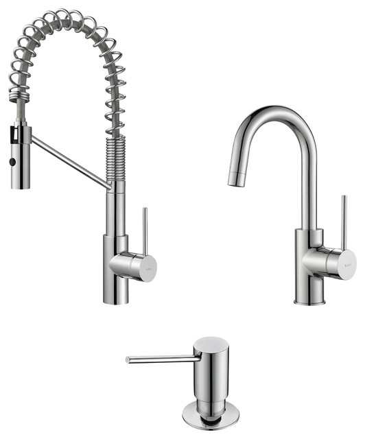 Kraus usa inc mateo commercial style kitchen faucet w for Industrial style kitchen faucet