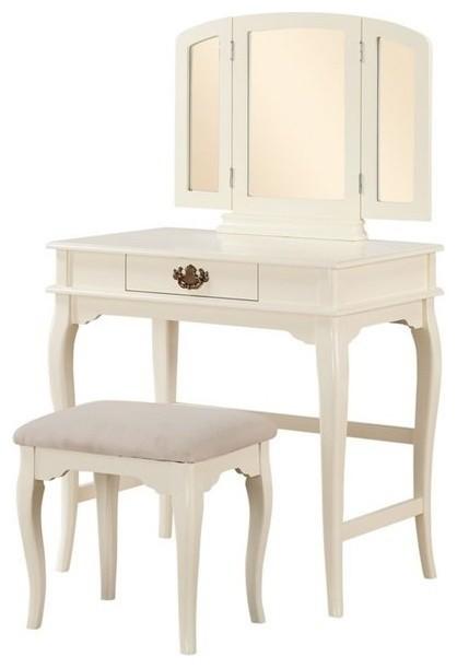 Linon Baylee Off-White Vanity Set