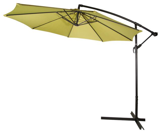 10u0027 deluxe polyester offset patio umbrella blue light green outdoor