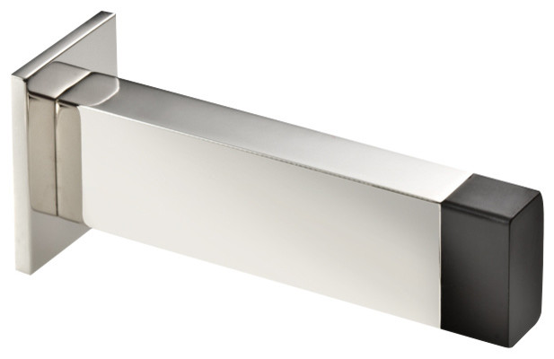 High Quality Stainless Steel Wall Doorstop, Polished, Rectangle Contemporary Door Stops
