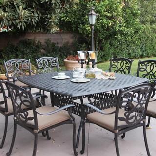 darlee santa monica 8 person cast aluminum patio dining