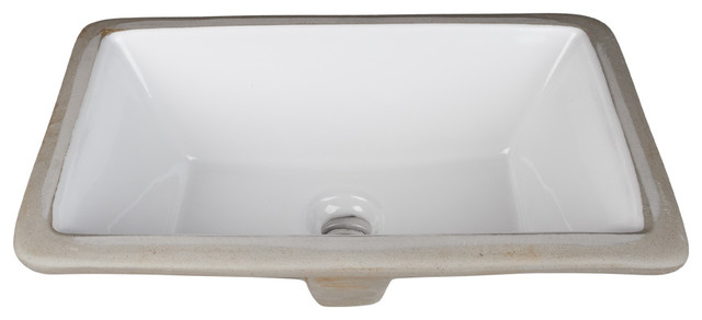 Undermount Porcelain Rectangle Sink 16