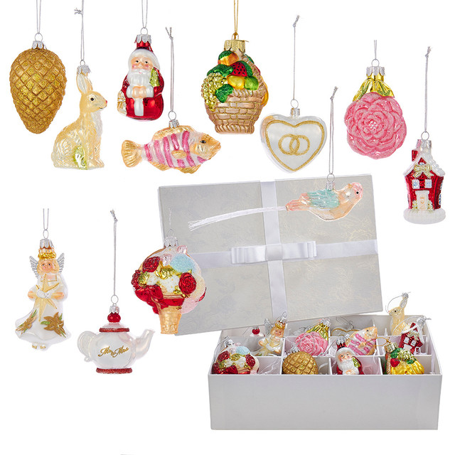 2 75 4 noble gems wedding ornament set of 12 traditional