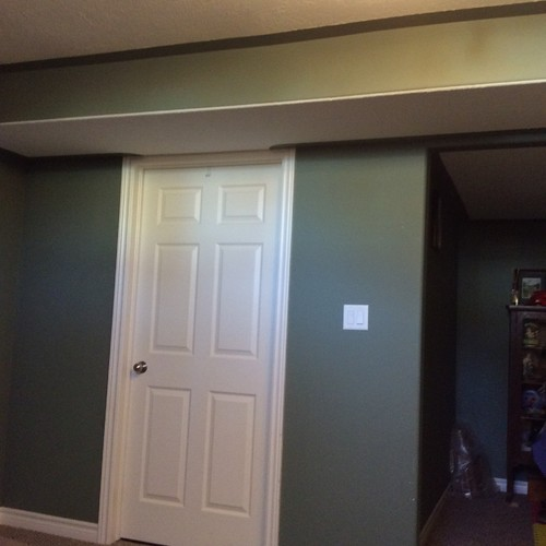 Painting basement bulkheads - wall or ceiling colour?