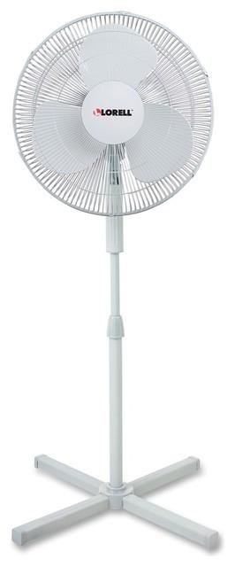 Lorell 3-Speed Pedestal Fan, 16 Diameter, 3 Speed, Adjustable H.