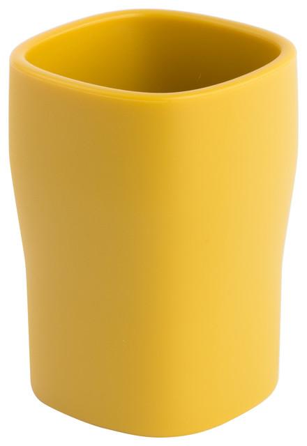 Grace soft modern toothbrush holder modern toothbrush for Mustard bathroom accessories uk