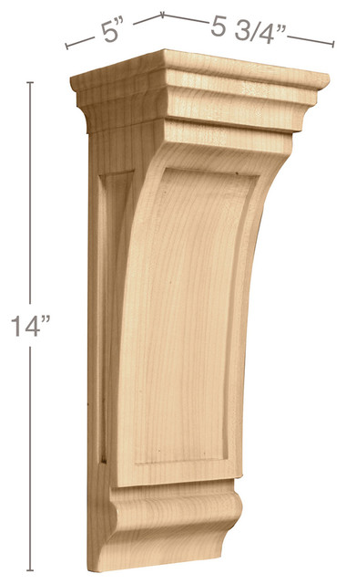 "Large Mission Corbel, 5 3/4""w X 14""h X 5""d, Maple."