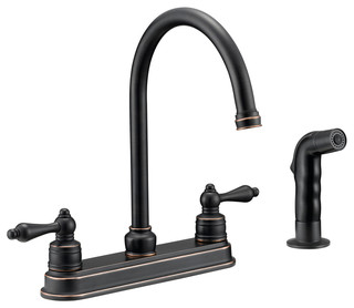 Designers Impressions   Designers Impressions 658847 Oil Rubbed Bronze Kitchen  Faucet With Sprayer   Kitchen Faucets