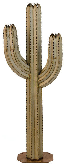 6.5' Saguaro Cactus Plant with 3 Torches
