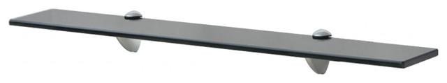 VidaXL Floating Shelf, Black, 8 mm, 70x10 cm