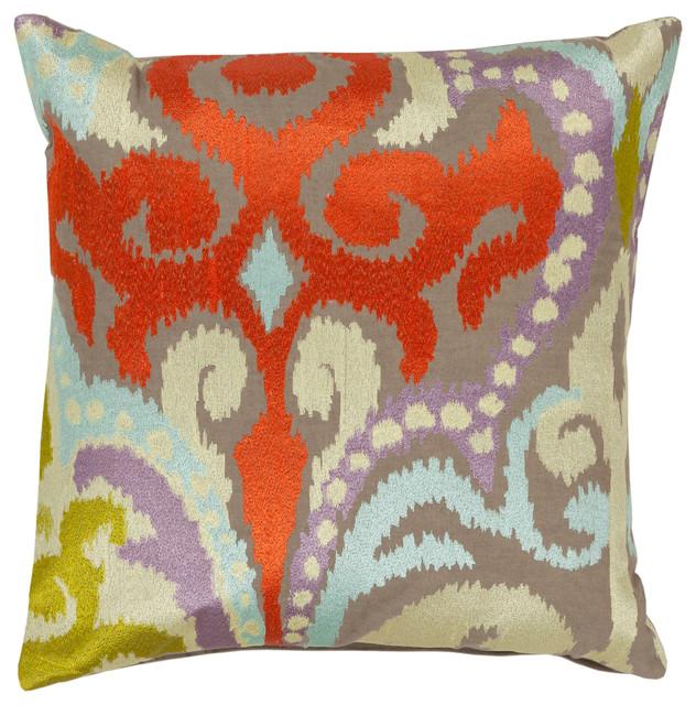 Ara Pillow 18x18x4, Down Fill.