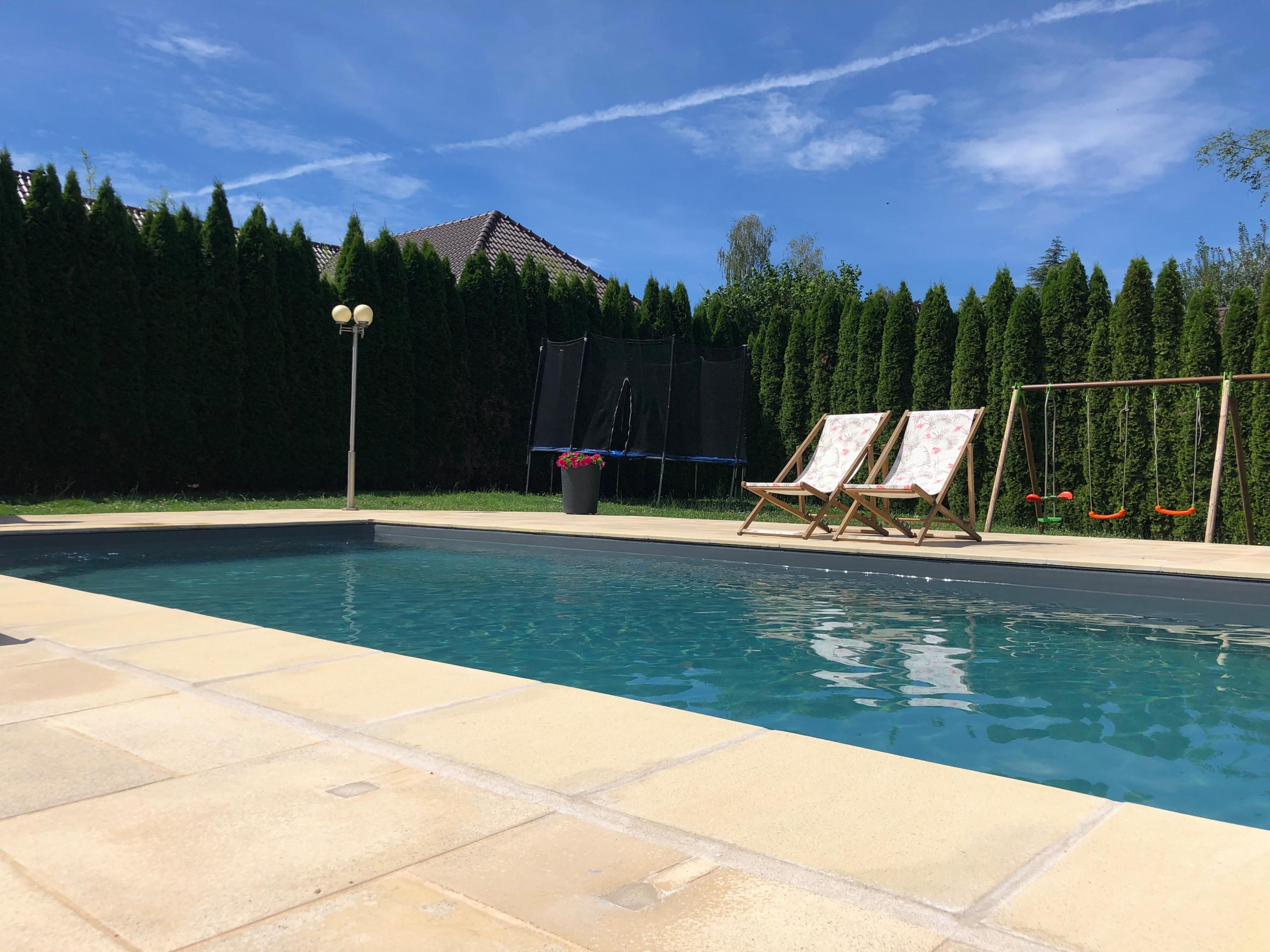 Pool Staging piscine extérieur liner gris anthracite