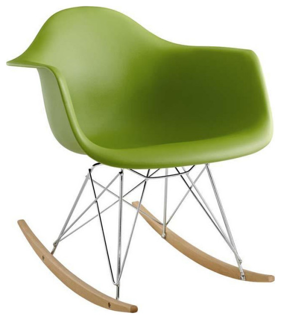 Adaire Plastic Lounge Chair/Green