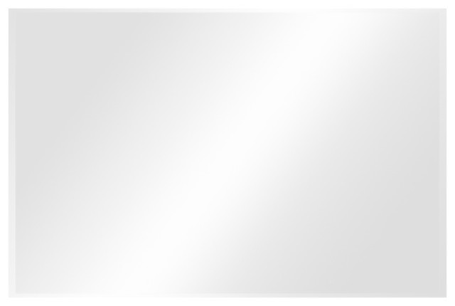 36 X48 Inch Rectangle 1 Beveled Polish Frameless Wall Mirror With Hooks Contemporary Wall Mirrors By Fab Glass And Mirror