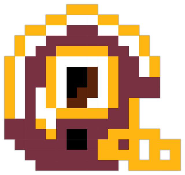 Washington Redskins Football Helmet Pixel Art Vinyl 12 Quot X12