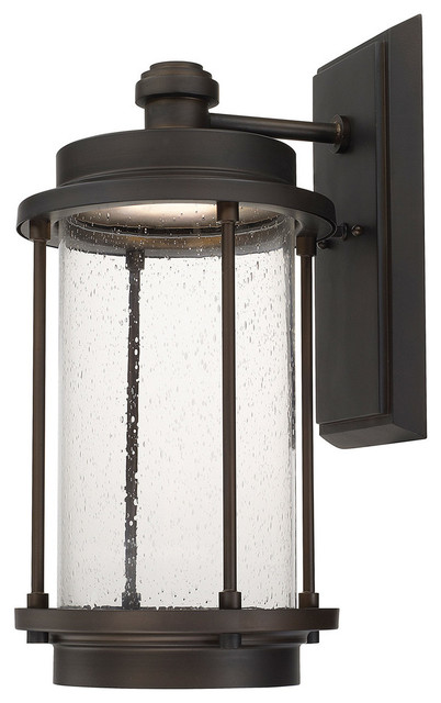 new style 450b6 7b09c Capital Lighting 918121OB-LD Grant Park Old Bronze Outdoor LED Wall Sconce