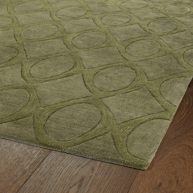 Rachael Ray Soho by Kaleen, Hand-Tufted Polyacrylic Rug, Olive, 8'x10' by Kaleen Rugs