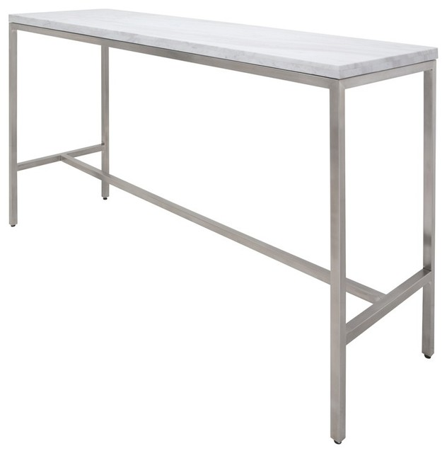 Bar Table Solid White Marble