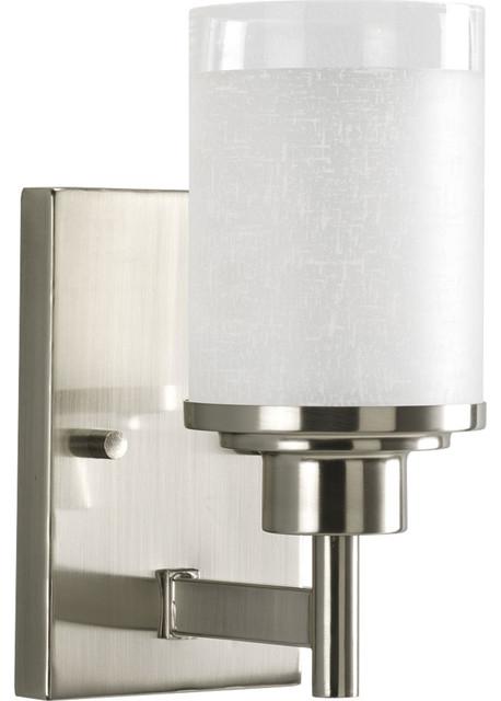 Transitional Bathroom Vanity Lights : Progress Lighting Alexa 1-Light Bath and Vanity Fixture - Transitional - Bathroom Vanity ...