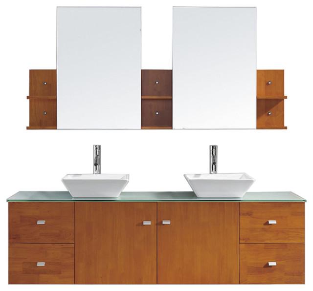 Virtu Clarissa 72 Quot Double Bathroom Vanity Honey Oak