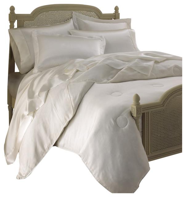 Empress Silk 100 Mulberry Silk Comforter White King All Season Weight