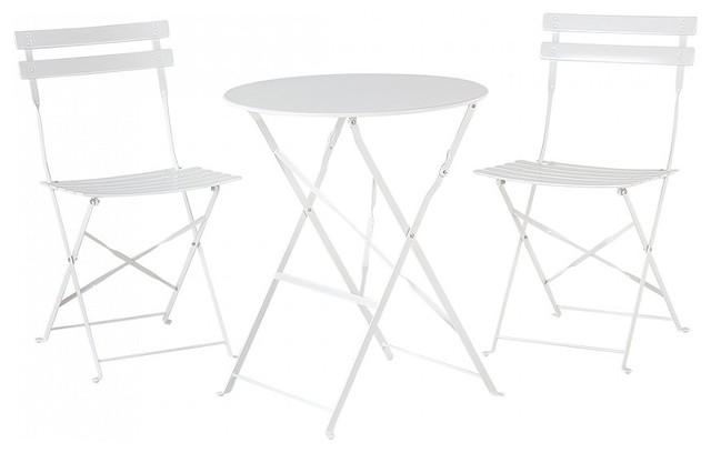 Fiori Outdoor Bistro 3-Piece Set, White