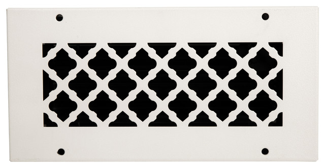 Solid Steel Return Vent Cover, White, Fits Duct Opening 10x4