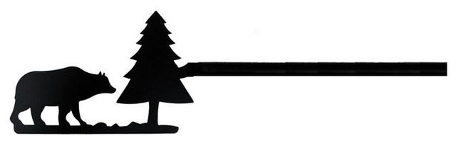 Bear/pine Curtain Rod, 112.
