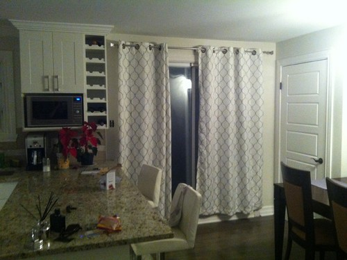 French Pleated Curtains Too Heavy For Patio Sliding Door