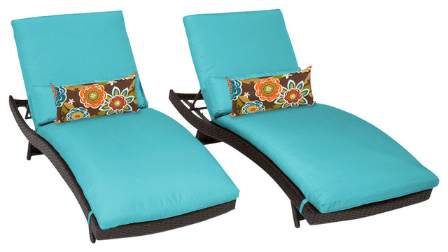 Bali Chaises Set Of 2 Outdoor Wicker Patio Furniture.